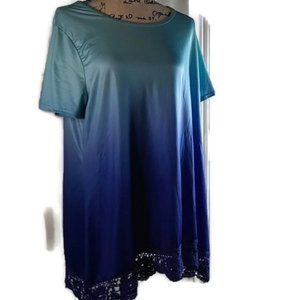 XL Women's Fade Top w/ Lace Hem